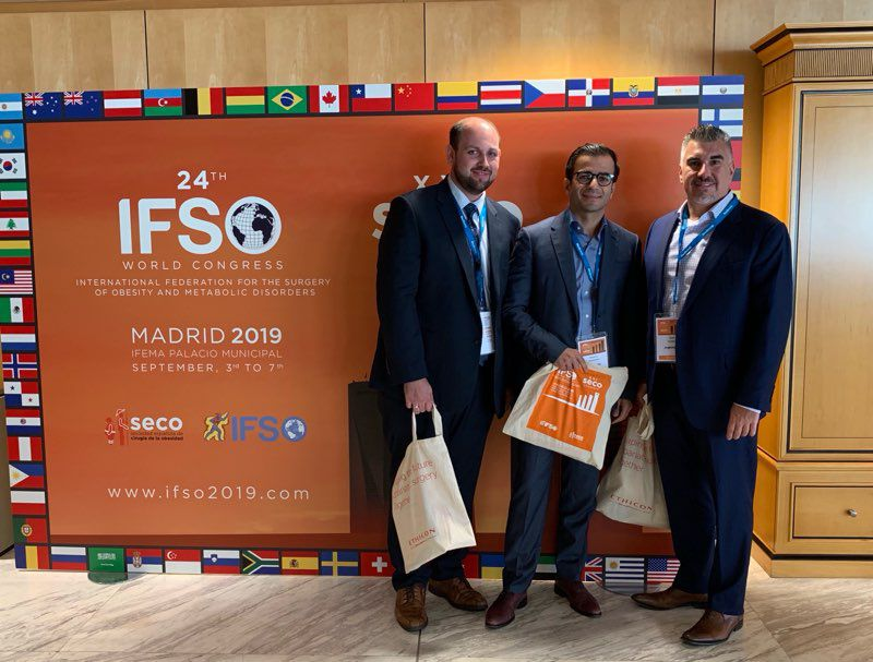 Dr. Schmidt and Dr. Talishinskiy attended and presented at the 2019 IFSO conference, held this year in Spain